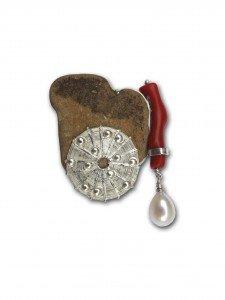 argent, corail, pierre du chemin, perle